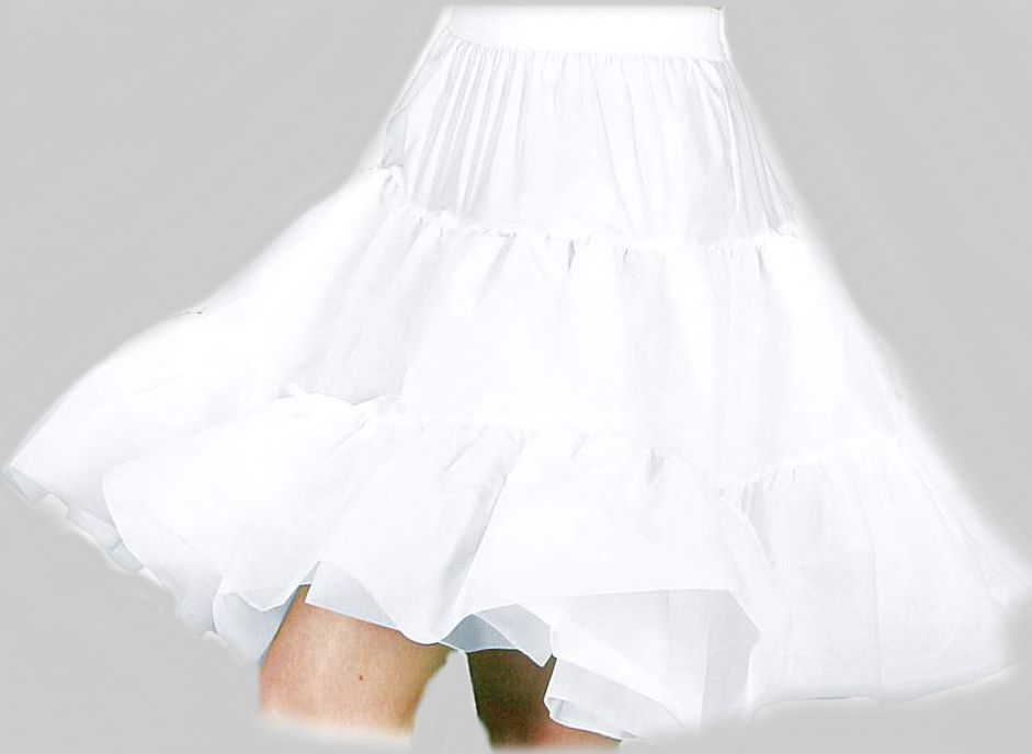 Petticoat Luxe Knielang weiß   36/38