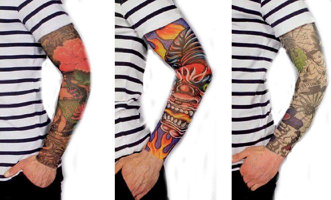 tattoo armel bunt herren 1 st ck karnevalsshop bastian. Black Bedroom Furniture Sets. Home Design Ideas