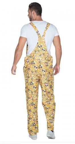 beste Qualität Preis schön Design Latzhose emoji - Smiley gelb Erwachsene - Karnevalsshop Bastian