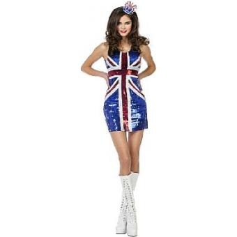 Minikleid - Paillettenkleid  UK