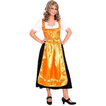 Dirndl Traudel orange-schwarz