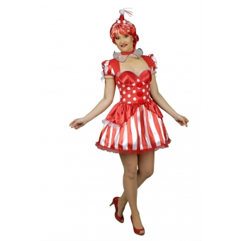 Kleid Sexy Clown in red