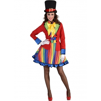 Clownkleid Dame luxe
